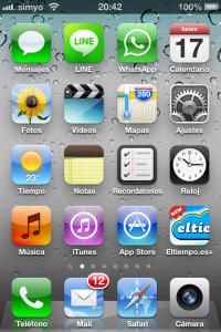 Pantalla de iphne con el icono de la App Store recuperado