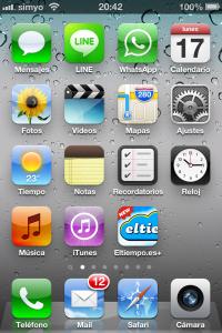 Pantalla de iphone sin el icono de la App Store