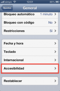 Paso 2 De general a Accesibilidad