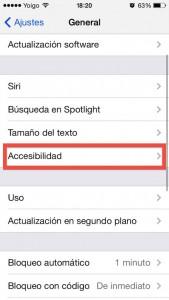 Paso 1c Buscamos en Ajustes General la opcion de Accesibilidad