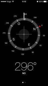 App brujula con el nuevo aspecto en iOS7