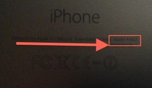 identificar el modelo de iphone para descargar el archivo IPSW