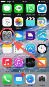 Paso 1 Entramos en Ajustes de nuestro iphone ipod ipad